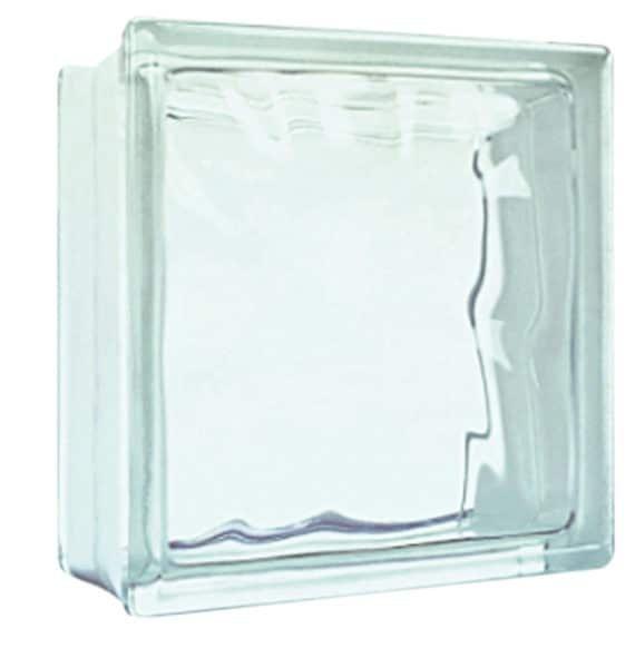 Bloco De Vidro Incolor Xadrez De 20 X 20 Cm