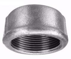 Cap Ou Tampão De Ferro Galvanizado, Com Rosca Bsp, De 2 polegadas