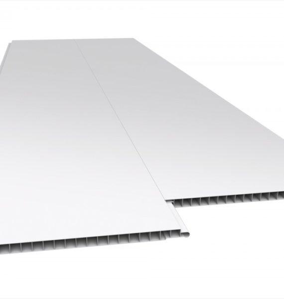 Forro De Pvc Liso, Branco, Régua De 10 Cm, Espessura De 8 Mm A 10 Mm - Sem Estrutura Metálica