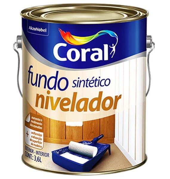 Fundo Sintético Nivelador Branco Fosco Para Madeira 3,6 Litros