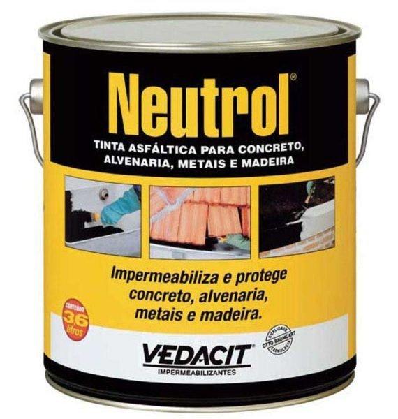 Tinta Asfáltica Impermeabilizante Para Materiais Cimentícios 3,6 litros