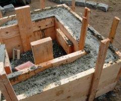 Fôrma De Tábua Para Estruturas De Concreto Da Fundação